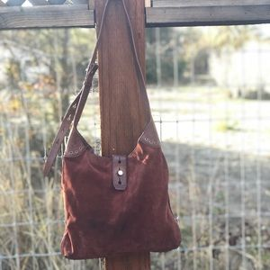 """Lucky Brand """"Lucky Rise"""" Suede Shoulder Bag"""